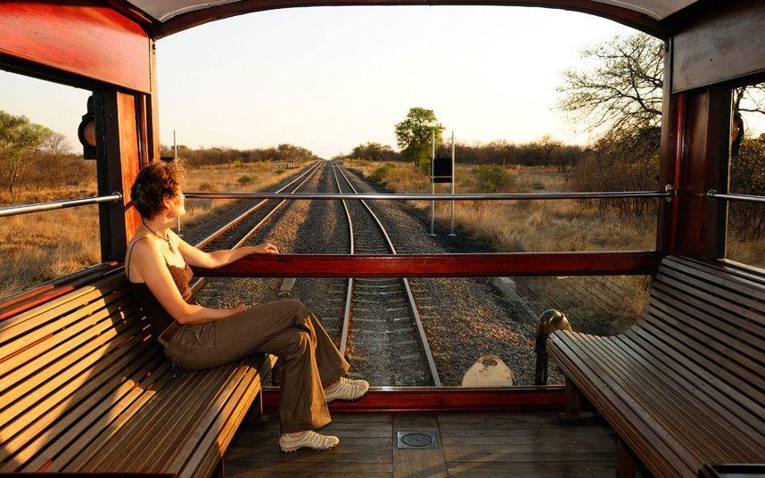 Картинка счастливой дороги на поезде